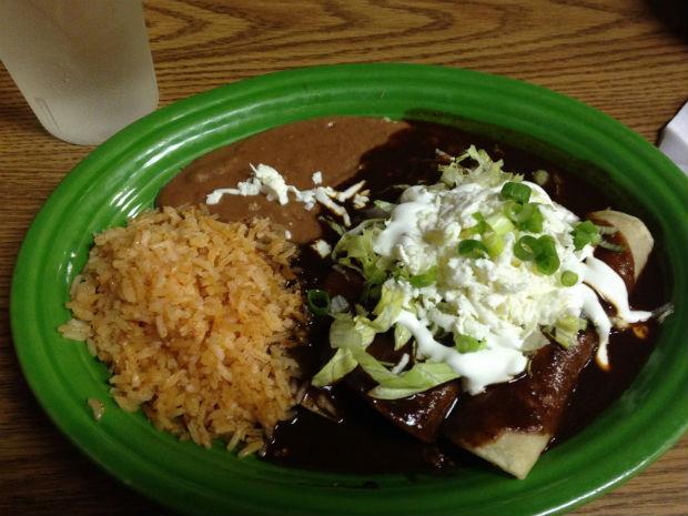 enchiladas with mole sauce